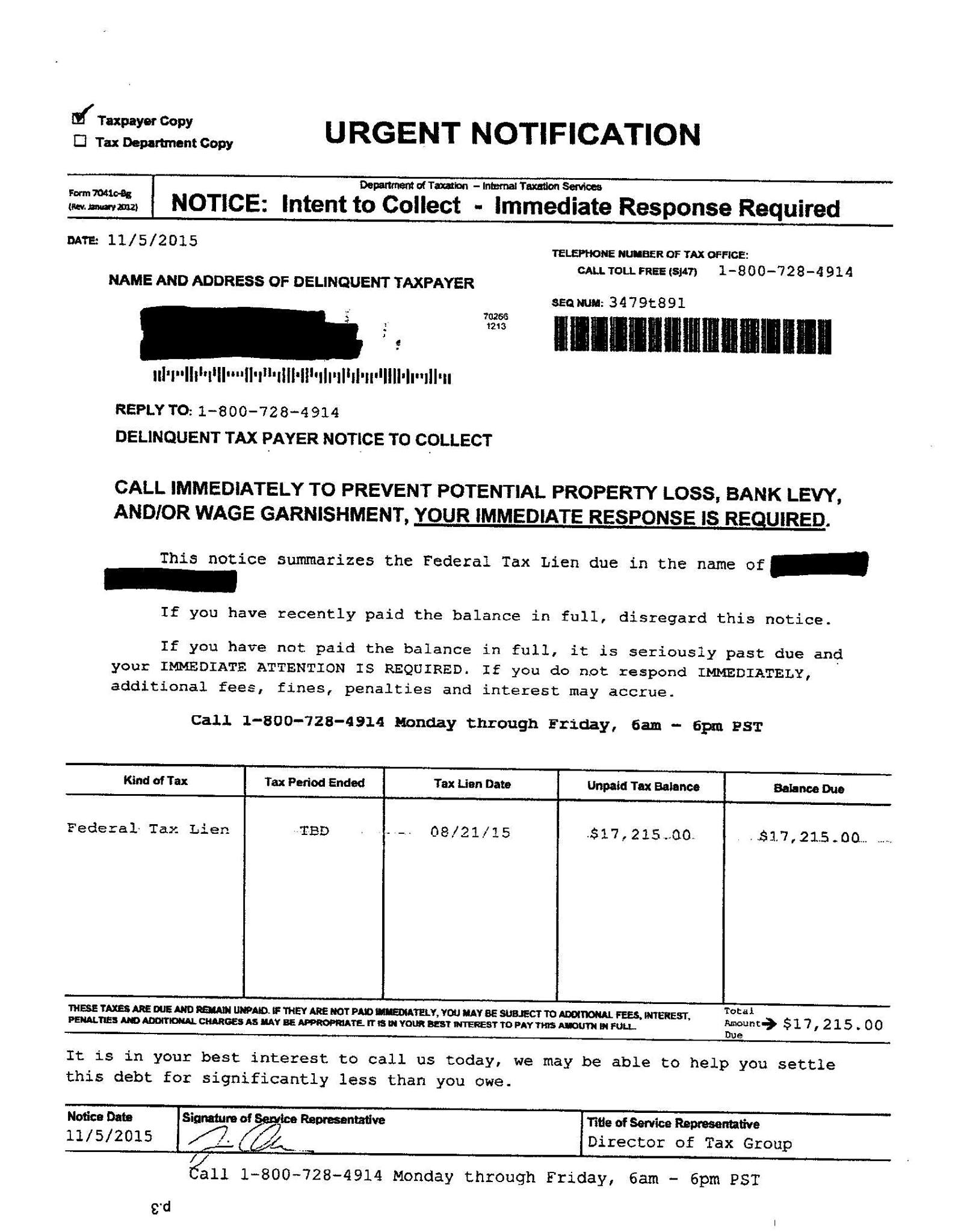 Irs Scammers Example Of A Fake Irs Notice